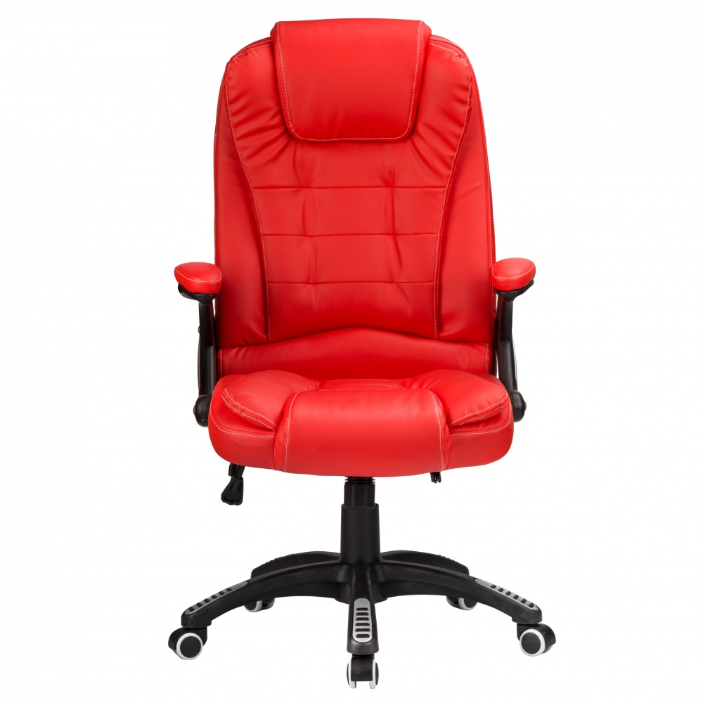d4f4dfe7356f RayGar Luxury Faux Leather High Back Reclining Office Chair - Red |  www.raygardirect.com